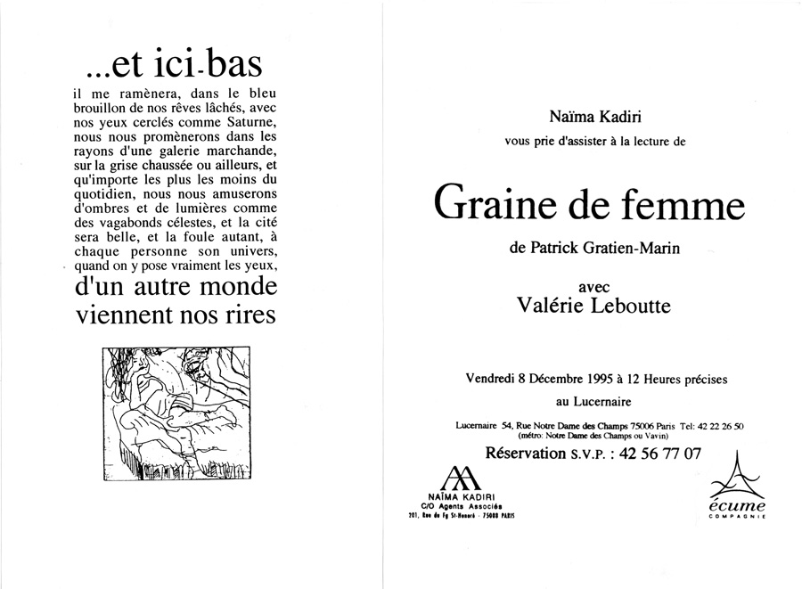 Graine de Femme - tract