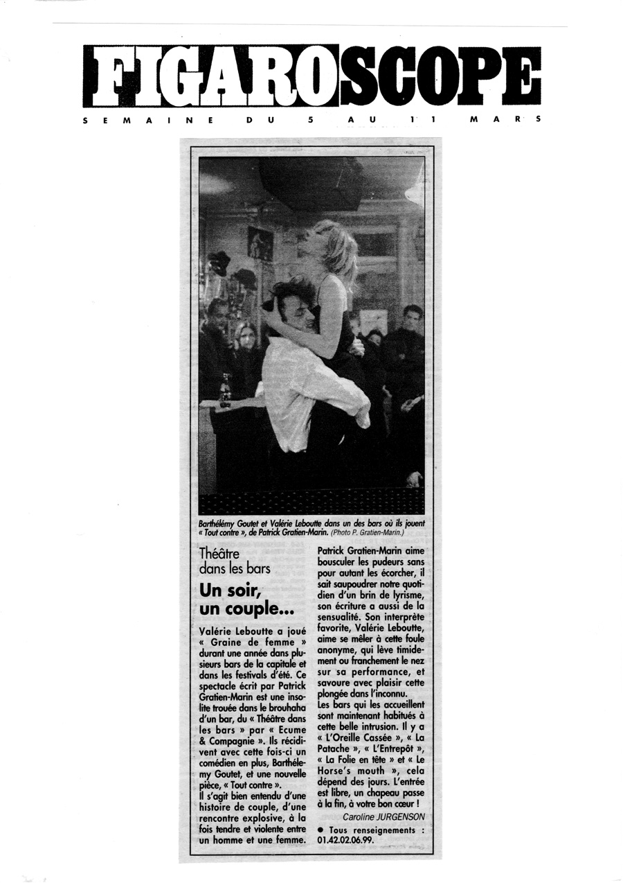 Tout contre - Le Figaro